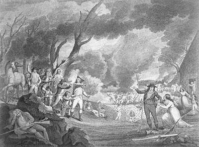 Battle Of Lexington, April 19th 1775, Engraved By Cornelius Tiebout C.1773-1832 Engraving B&w Photo Art Print