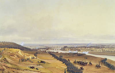 Battle Of Montereau, 18th February 1814, 1840 Wc On Paper Art Print
