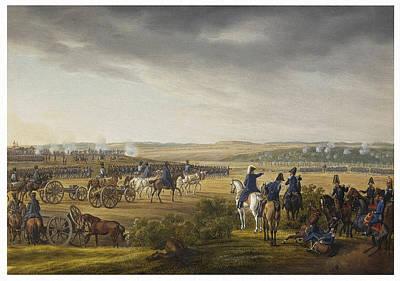 Battle Of Moscow On 7 September 1812 Art Print by Albrecht Adam