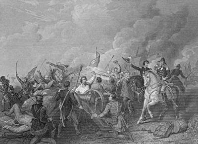 Battle Of New Orleans, 8th January 1815, From Gleasons Pictorial, 1854 Engraving B&w Photo Art Print