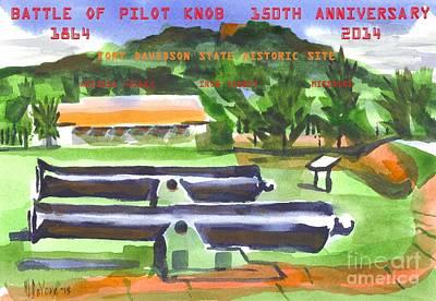 Yankees Painting - Battle Of Pilot Knob by Kip DeVore