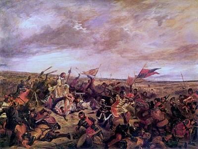 Battle Of Poitiers Print by Eugene Delacroix