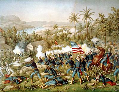 Battle Of Qusimas Print by Kurz and Allison