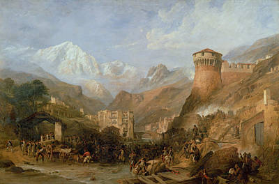 Tyrol Wall Art - Painting - Battle Of Rovereto, 4th September 1796 by Clarkson R.A. Stanfield