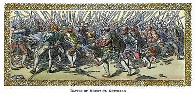 Battle Of Saint Gotthard Art Print by Granger