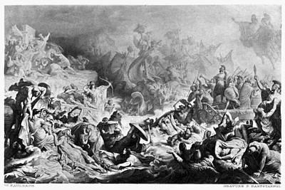 Battle Of Salamis, 480 B Art Print