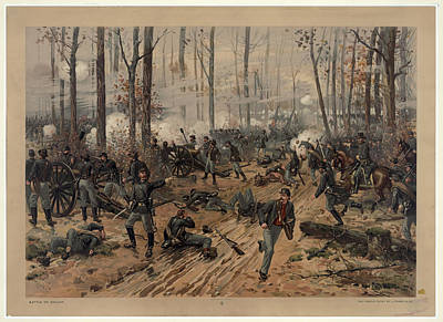 battle of Shiloh Art Print