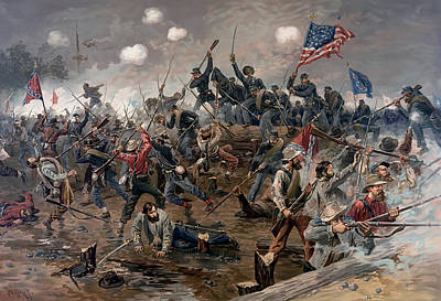 Painting - Battle Of Spotsylvania by Mountain Dreams