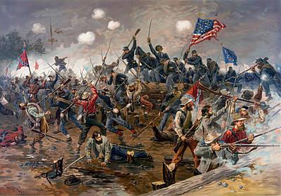 Battle Of Gettysburg Digital Art - Battle Of Spottsylvania by Thure de Thulstrup
