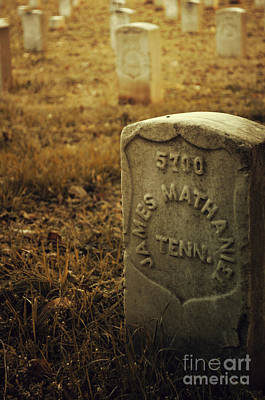 Photograph - Battle Of Stones River Union Army Graveyard Vi by Donna Greene
