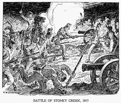 Creek Drawing - Battle Of Stoney Creek by Granger