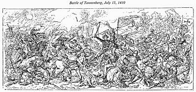 Lithuanian Painting - Battle Of Tannenberg, 1410 by Granger
