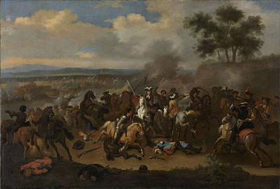 Battle Of The Boyne, 12 July 1690 Between Kings James II Print by Litz Collection