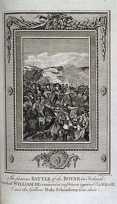 Battle Of The Boyne Print by British Library