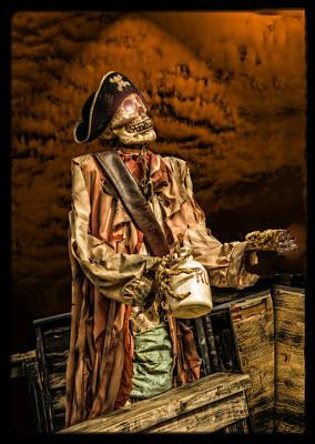 Piracy Jolly Roger Bones Danger Photograph - Battle Of The Drunken Pirates by LeeAnn McLaneGoetz McLaneGoetzStudioLLCcom