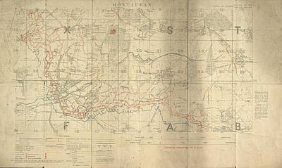 Trench Photograph - Battle Of The Somme Trench Map by British Library