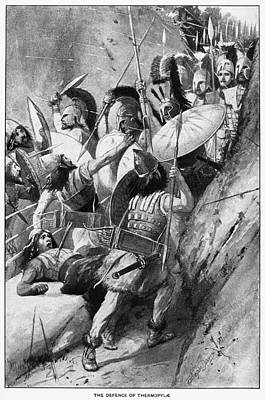 Battle Of Thermopylae Art Print