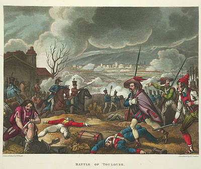 Battle Of Toulouse Art Print by British Library