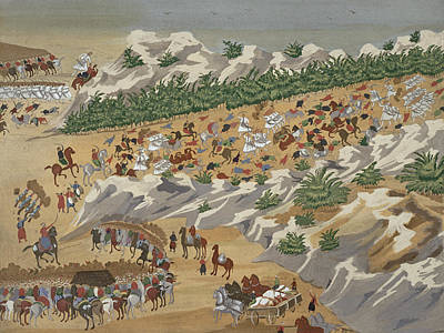 Turkish Painting - Battle Of Vasilika In 1821 by Greek School