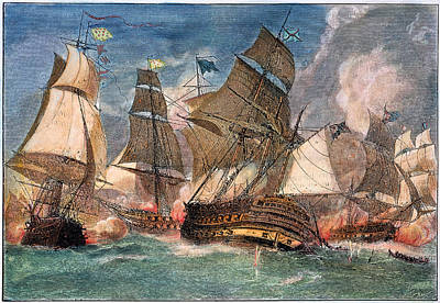 Battle Of Virginia Capes Art Print