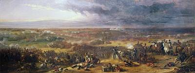 Cannons Painting - Battle Of Waterloo, 1815, 1843 by Sir William Allan