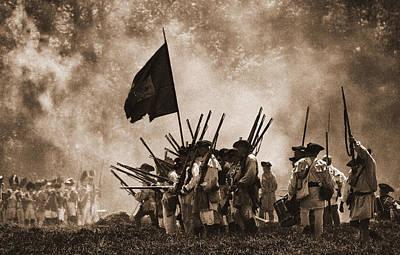 Battle Of Wyoming II Print by Jim Cook