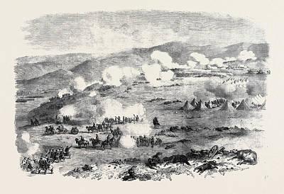 Battle On The Heights Of Kars, The Fight Near Tahmasb-tabia Art Print by English School