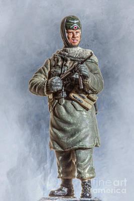 Youth Digital Art - Battle Weary Panzer Grenadier by Randy Steele