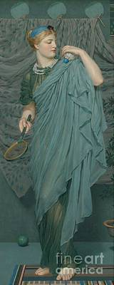 Battledore Art Print by Albert Joseph Moore