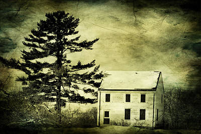 Battlefield Farmhouse With Texture Print by Geraldine Scull