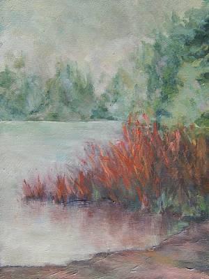 Painting - Battlefield Lake Mist by Marlene Kingman