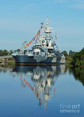 Photograph - Battleship Reflections by Bob Sample