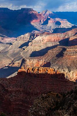 Photograph - Battleship Rock At The Grand Canyon by Ed Gleichman