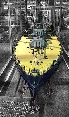 Military Photograph - Battleship U S S Oklahoma B B-37 by John Straton