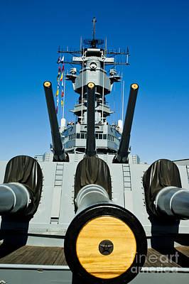 Battleship Uss Iowa 1 Art Print by Micah May