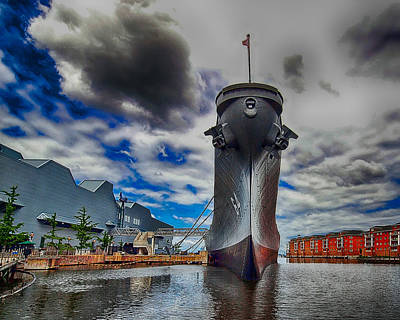 Battleship Wisconsin Art Print