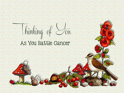 Battling Cancer Greeting Card Art Print