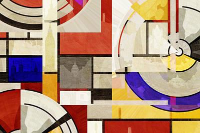Big Ben Photograph - Bauhaus Rectangle Three by Big Fat Arts