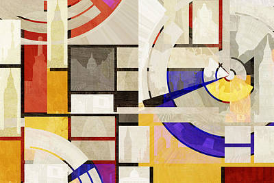 Bauhaus Rectangle Two Art Print by Big Fat Arts