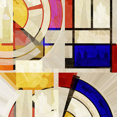 Bauhaus Three Art Print by Big Fat Arts