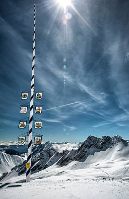 Bavarian Photograph - Bavarian Alps, Zugspitze, Germany by Sheila Haddad