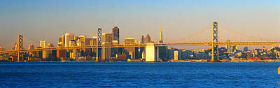 Bay Bridge Photograph - Bay Bridge & San Francisco From Port by Panoramic Images
