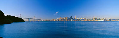 Bay Bridge Photograph - Bay Bridge & San Francisco by Panoramic Images