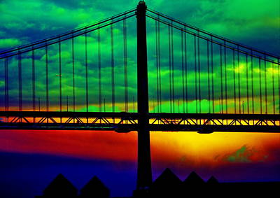 Photograph - Bay Bridge Abstract by Aidan Moran