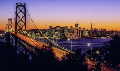 Bay Bridge At Dusk, San Francisco Art Print