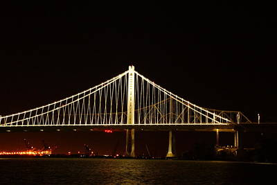 Photograph - Bay Bridge At Night by Michael Courtney