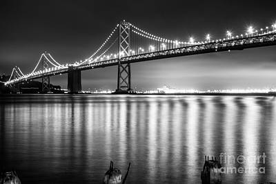 Photograph - Bay Bridge Bw by Suzanne Luft
