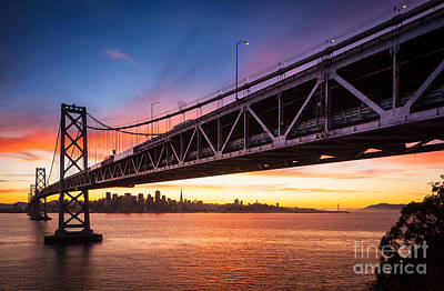Bay Bridge Photograph - Bay Bridge Expanse by Inge Johnsson