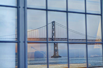 Photograph - Bay Bridge From A Window by SC Heffner