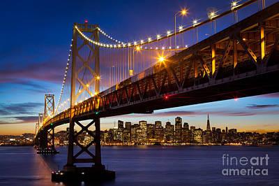 Treasure Island Photograph - Bay Bridge by Inge Johnsson